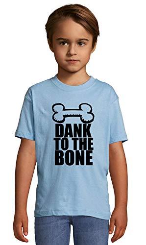 Atprints Dank to The Bone Funny Slogan Art Heaven Blue Crew Neck Kids T-Shirt 142-152 (12 Year)
