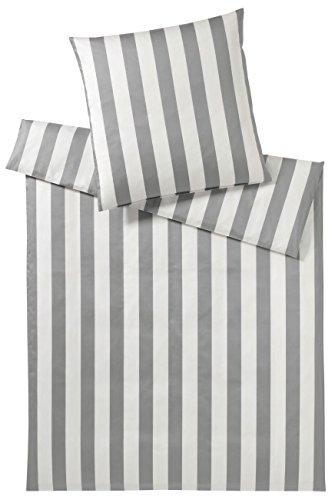elegante Mako Satin Bettwäsche Alley 2238-009-240x220-2x80x80 Silber