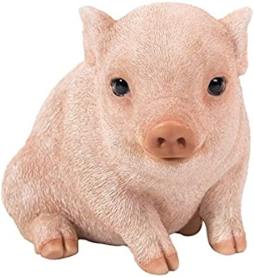 Pacific Giftware PT Realistic Look Statue Farm Baby Pig Piglet Home Decorative Resin Figurine