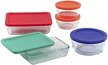 Pyrex 10-Piece Glass Food Storage Set