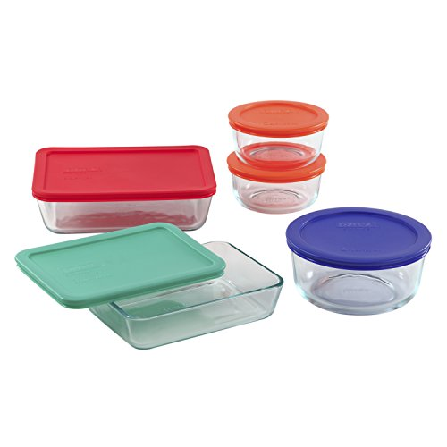 Pyrex Simply Store, 10-Piece Set, Clear