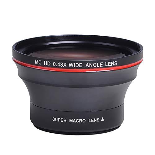 PowerTrust - Objetivo gran angular para cámaras Nikon D3400, D5600 y Sony Alpha (55 mm, 0,43 aumentos)