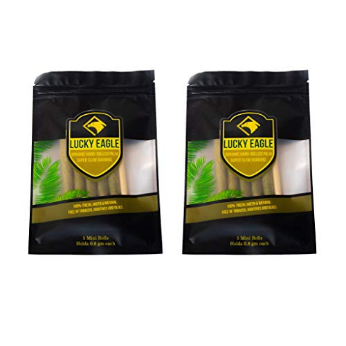 Lucky Eagle Natural Pre Wrap Palm Leafs 10 Rolls (2 Packages) (King)