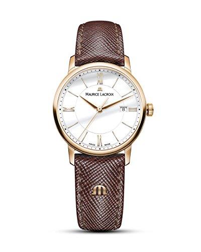 Maurice Lacroix Damen Analog Quarz Uhr mit Leder Armband EL1094-PVP01-111-1
