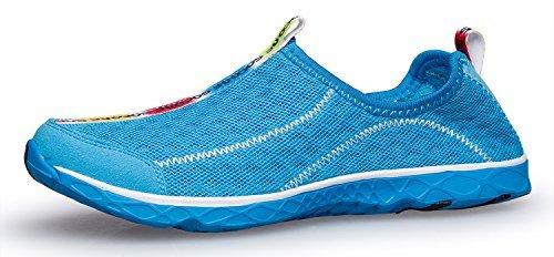 Zhuanglin Women's Quick Drying Aqua Water Shoes Size 8 B(M) US Blue,Blue,8 B(M) US