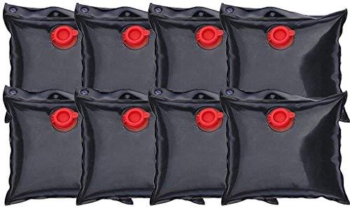 well2wellness® 8 x Pool Beschwerungssack - Wassersack klein zur Beschwerung von Pool Abdeckplanen