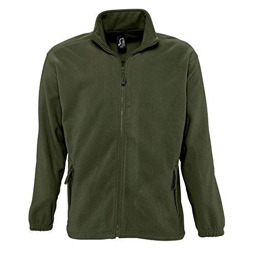 Sols Herren Outdoor Fleece Jacke North (2XL) (Army)