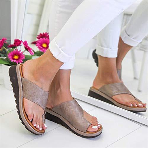 RLH Zapatos de Cuero de la PU de Las Mujeres Plataforma cómoda Suela Plana Damas Casual Suave Punta del…