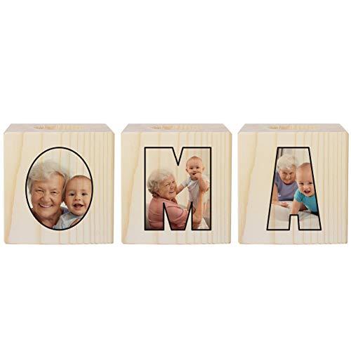 Herz & Heim® Entzückendes Kerzenhalter Set für die Oma - wundervolles Geschenk zum Geburtstag
