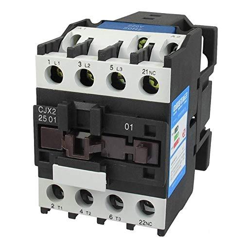 ETial CJX2-2501-DC Contactor eléctrico de distribución DC 24V 50Hz Bobina 25A trifásico 3 polos 1NC