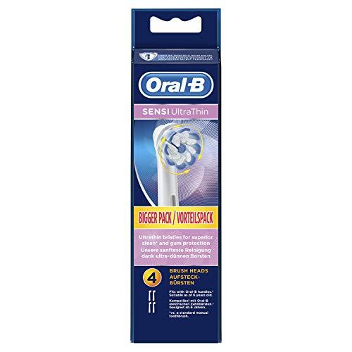 Oral-B Sensi UltraThin, Cabezales De Repuesto Para Cepillo De Dientes Eléctrico, Pack 4 Unidades