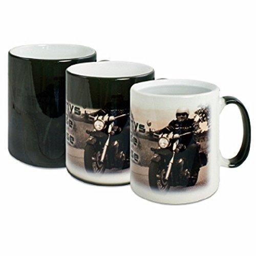 sparbild Magic Tasse - Zaubertasse mit eigenen Foto Wärme Effekt Tasse in Schwarz