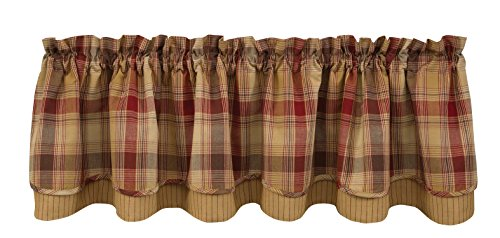 Park Designs Hearthside Lined Layer Valance, 72 x 16