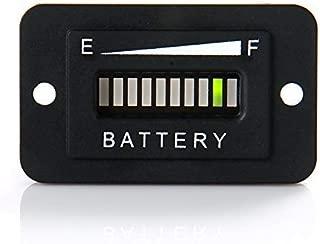 RunLeader RL-BI003 12V/ 24V Battery Fuel Gauge Indicator LED Battery Indicator Meter Gauge for Golf Cart,Fork Lifts, Floor Care Equipment, EZGO, Yamaha, Club Car