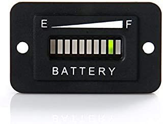RunLeader RL-BI003 12-24V 36V 48V 72V Battery Fuel Gauge Indicator for DC Powered Equipment Such as Fork Lifts, Golf carts, Floor Care Equipment, and Any Other Battery Powered Equipment. (36V)