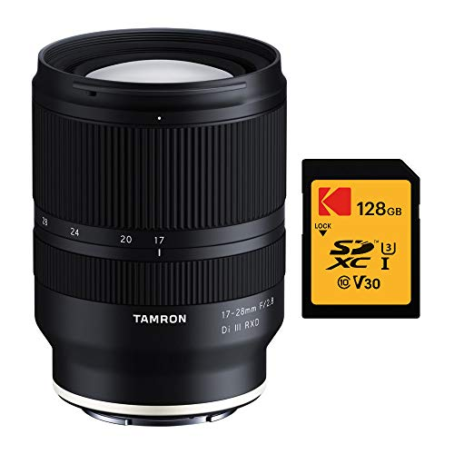 Tamron 17-28mm f/2.8 Di III RXD Lens for Sony E with Kodak 128GB Memory Card Bundle (2 Items)