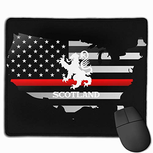 Lion Rampant Scotland Scottish Thin Red Line Flag Alfombrilla para ratón Non-Slip Gaming Mouse Pad Mousepad for Working,Gaming and Other Entertainment