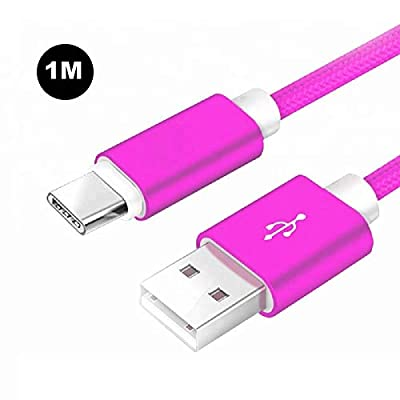 REALMAX® ?1M ?USB C Cable, Type C Charger Fast Charging Sync Nylon Braided Mesh Cord 1.5A USB 2.0 For Samsung Galaxy S9/S8+,Note 8,Macbook Pro,iPad Pro,Switch,LG G6 V20 G5,Google Pixel XL,OnePlus 5T