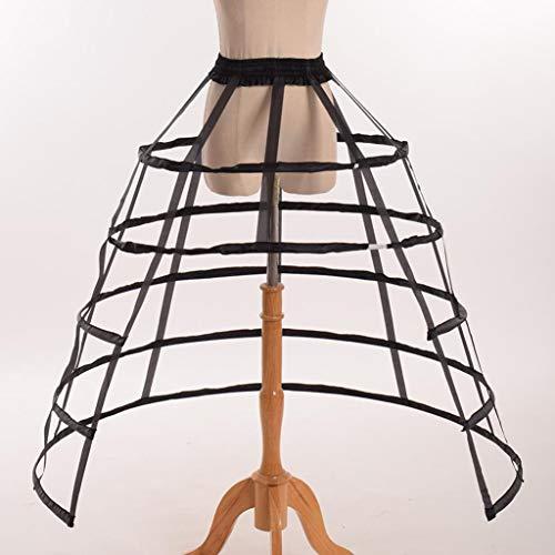 BINGHONG3 - Falda Hueca con Volantes para Disfraz de Jaula de pájaros Negro Negro