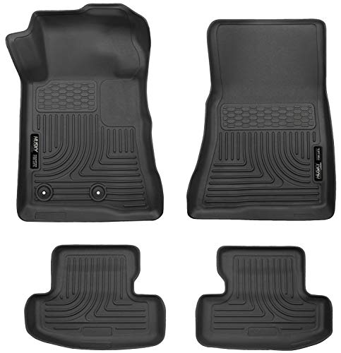 Husky Liners 99371 Black Weatherbeater Front & 2nd Seat Floor Liners...