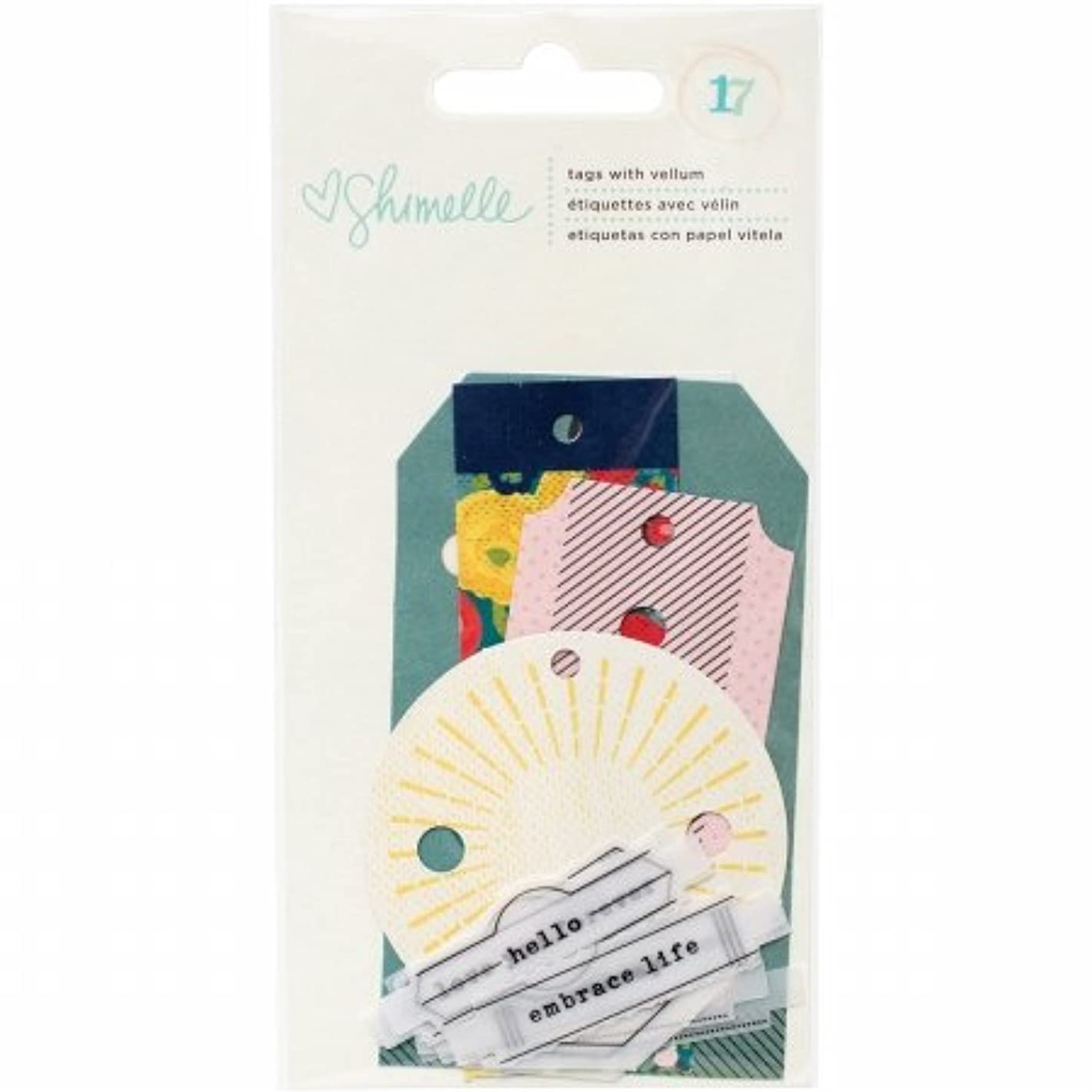 American Crafts 407471 Shimelle True Stories Tags with Vellum Phrases