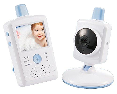 Switel BCF867 Video Babyphone, 6 cm Farb Touchscreen, automatische Nachtsichtaktivierung, Batteriestands- und Reichweitenwarnung