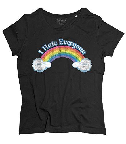 3stylercollection vintage T-Shirt Donna I Hate Everyone Ispirata agli Orsetti del Cuore
