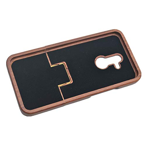 Phantom Sky Stylisch Holzschatulle Kompatibel für Huawei Mate 20 Lite, Premium Qualität Natürliche Handgemachte Stoßfestes Handyhülle Holzabdeckung Holz Schutzhülle Cover - Rosenholz Mandala