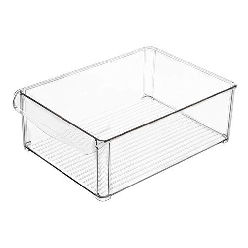 IrahdBowen Cajas Organizadoras Grandes con Asa Cajas Plasticas Ideales para Cocina En Armarios O como Caja para Nevera Transparente Adorable