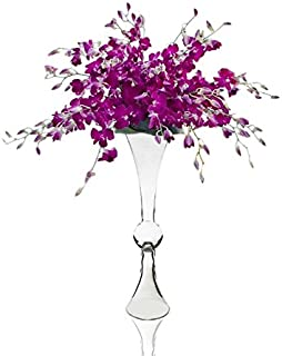 CYS GTR161 Clear Reversible Flare Open Trumpet Vase (4 Pack)
