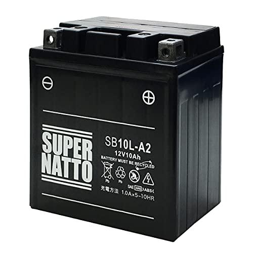 バイクバッテリー / SB10L-A2 (YB10L-A2 12N10-3A-2 GM10Z-3A互換) バイク用バッテリー シールド型 MF( グラストラッカー (BA-NJ47A) ボルティーTypeⅠ/Ⅱ/C/T GSX400FS インパルス GS400 GS250FW ) SUPRE NATTO(スーパーナット)