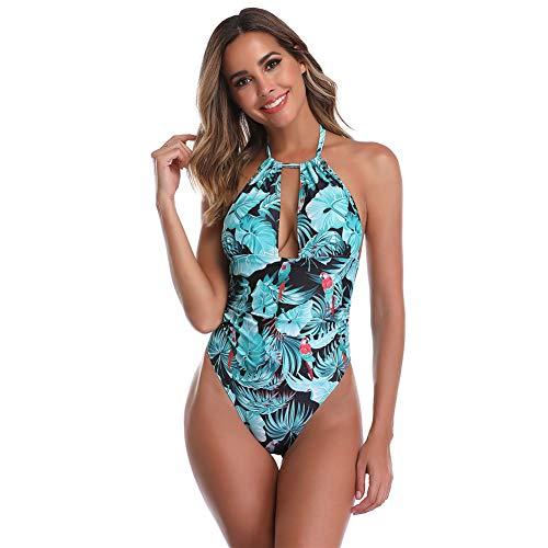 Sexy vrouwelijk eendelig eendelig ondergoed bikinikostuum badpak diepe V terug uitsparing geschikt voor vrouwen pool party, zwemmen,Burst,XL