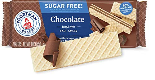 Voortman Bakery Sugar-Free Chocolate Wafers, 9 oz., Pack of 4 – Sugar-Free Wafer Cookies Made with Real Cocoa, No Artificial Colors, Flavors or High-Fructose Corn Syrup