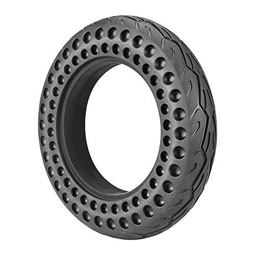 HTZ-M Neumático de Scooter eléctrico de 10 Pulgadas, neumático no neumático, Antideslizante, a Prueba de Golpes, para reemplazo de neumáticos, Negro