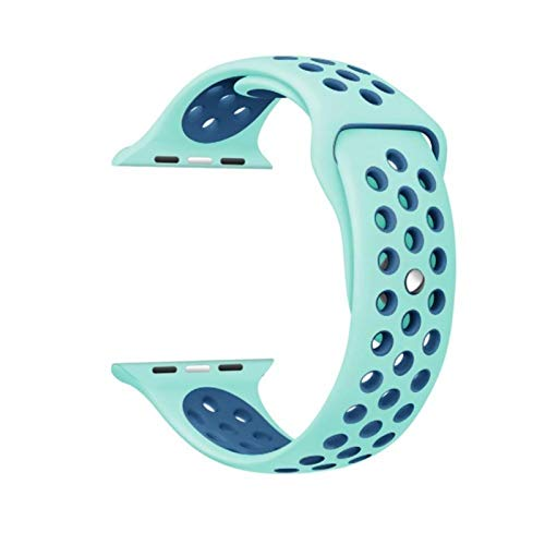 Correa de silicona de 44 mm para reloj inteligente Serie 6/5 Adaptador de pulsera de goma de 42 mm para Apple Watch W26 FK78 IWO 12 11