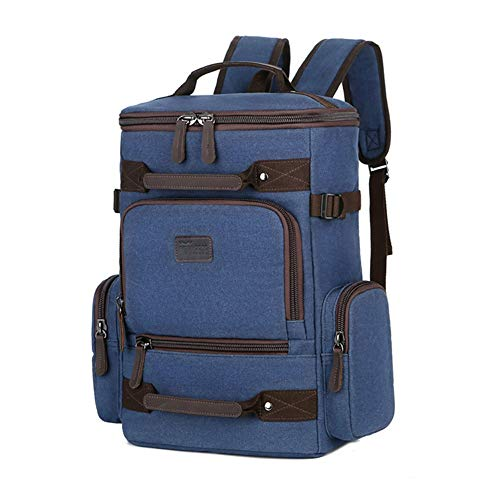zxj Outdoor Rucksack Canvas Backpack 55L Large Capacity Mountain Climbing Computer Bag (Color : C)