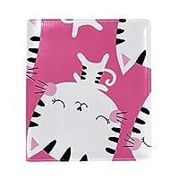 Carrozza ブックカバー 文庫 新書 猫柄 動物柄 本カバー おしゃれ かわいい 25x28cm PUレザー 革