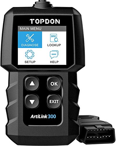 OBD2 Scanner Code Reader TOPDON AL300, car Auto Diagnostic Tool with Full OBD2 Functions, Engine Fault Code Reader CAN Scan Tool, HD LCD Display Screen, for Cars After 1996