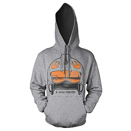 Officiellement Marchandises sous Licence X-Wing Fighter Helmet Hoodie (H.Gris), Small