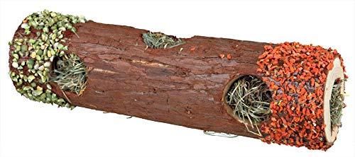 Trixie 60771 Röhrentunnel mit Heu und Hibiskusblüten, groß, ø 9 × 30 cm, 35 g