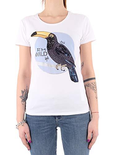 Liu Jo WA1321J5003 Camiseta Mujer Gabinete óptico para Perros de vanidad L