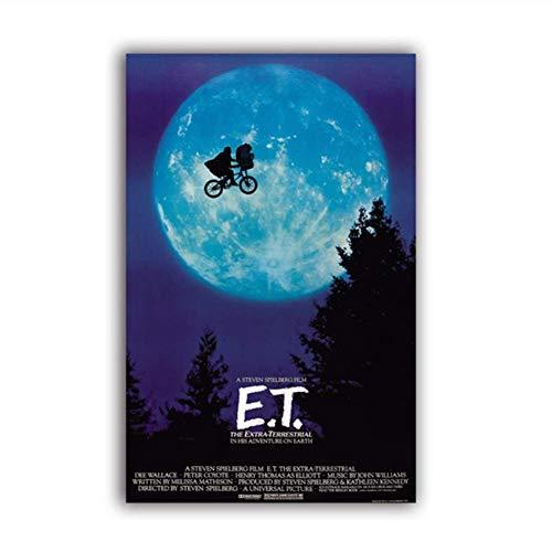 XuFan ET El póster de la película OVNI Extraterrestre impresión de ArteDecoración Regalo película Cartel Lienzo Pintura Imagen de la Pared Arte decoración-50x70cmX1 Sin Marco