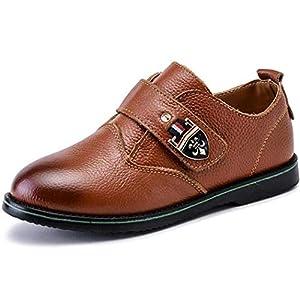 (ダダウン)DADAWEN 小紳士靴 男の子 フォーマルシューズ 軽量 可愛い 制服靴 柔らかい 滑り止め コンフォート 通学靴 結婚式 発表会 イエロー 24cm