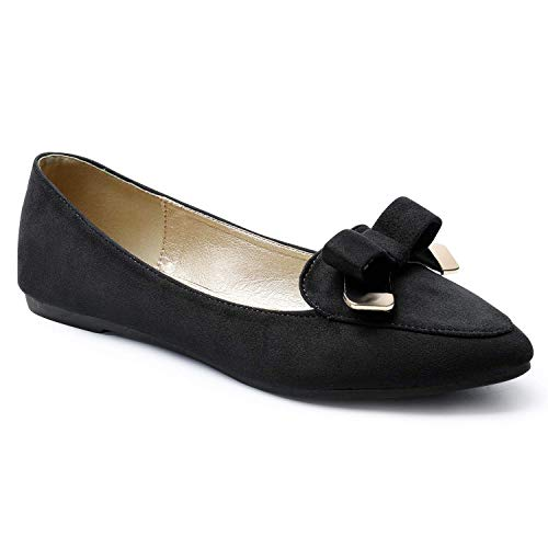 Top 10 best selling list for pointed bow flat black shoes for girls