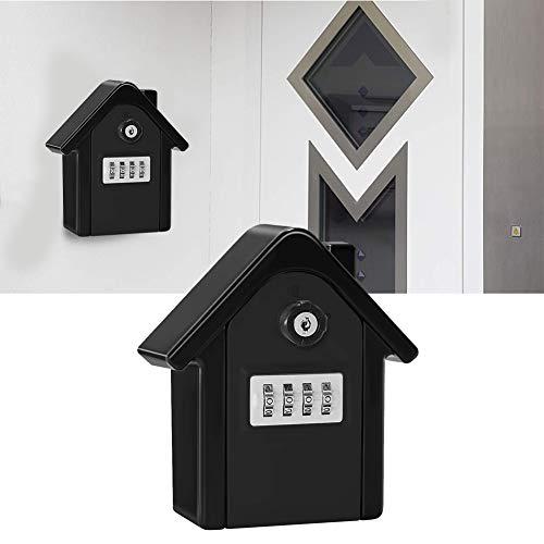 Alinory 4-stelliges passwortsicheres, korrosionsbeständiges Passwort Schlüsselbox, Schlüsselaufbewahrungsbox, verschleißfest für Home Office Warehouse Factory(Black)
