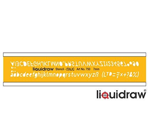 Vloeibaar Lettering Stencils voor Ambachten Engels Stencil Alfabet Nummer Tekening Tekening Sjabloon, Italiaans Lettertype 7mm