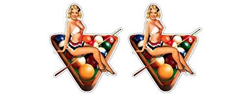 Oldschool 9-Ball Rack Billard Pinup Girl Rockabella Vintage Aufkleber Sticker + Gratis Schlüsselringanhänger aus Kokosnuss-Schale + Auto Motorrad Laptop Tuning Biker Rockabilly Bobber 1{1d8f60ea9aff7e5a7db809b24b6532617b3d8811252e892b51ae973d3d5cbfb8} MC