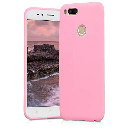 BESTCASESKIN Funda Compatibile con Xiaomi Mi A1 Carcasa Silicona [Colores del Caramelo] Protector Ultra-Delgado TPU Goma Gel Flexible Caso teléfono móvil Protección Case, Rosa