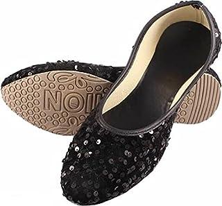 Family Fashion MART Women's Sitara-Belly-Black(S.NO-62)