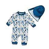 BONVERANO Säuglingsjunge EIN stück 3/4 der ärmellänge UV-Schutz 50+ Badeanzug MIT Einem Reißverschluss (Blaues Ölgemälde, 68-74)
